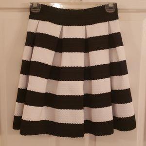 Express Pleated Black & White Skirt- Never Worn!